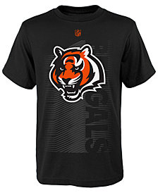 Outerstuff Cincinnati Bengals Poly Jump Speed T-Shirt, Big Boys (8-20)