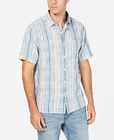 Tommy Bahama Men's Hideaway Palms Plaid Shirt