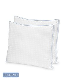 2 Pack TempaGel Max Cooling Gel Beads and Memory Fiber Pillow Collection