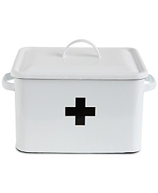 Enameled Decorative First Aid Box with Lid