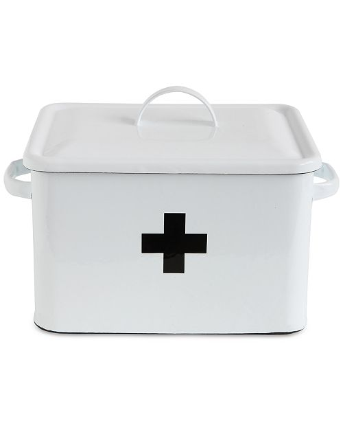 3R Studio Enameled Decorative First Aid Box with Lid