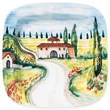 Vietri Landscape Villas Square Wall Plate