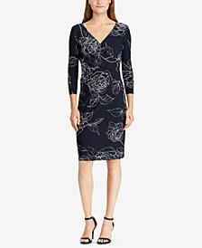 Lauren Ralph Lauren Petite Surplice Dress