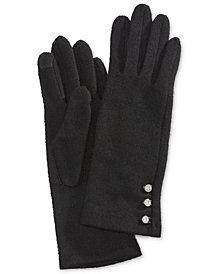 Lauren Ralph Lauren Logo-Button Touch Gloves