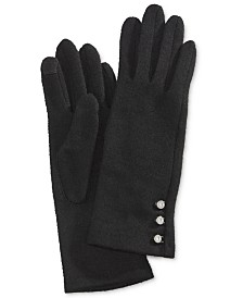 Lauren Ralph Lauren Logo-Button Touch Gloves
