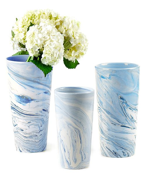 Two S Company Terre Melee Blue Tapered Tall Vases Set Of 3 Reviews Vases Home Decor Macy S