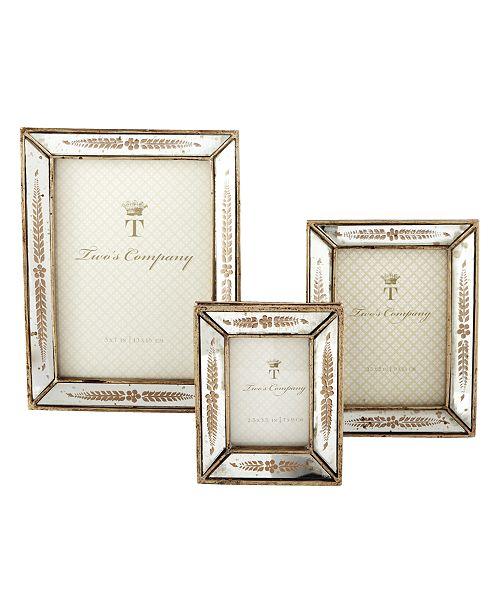 1f712fd0eca ... Set of 3  Two s Company Verona Gold Leaf Frame