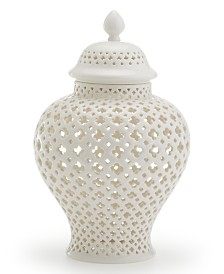 Two's Company Carthage Medium Pierced Covered Lantern