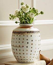 Artisans Collections Brown, Natural Dots Jar