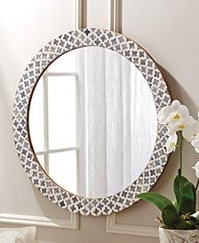 Slate Quatrefoil Round Wall Mirror