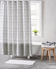 "DKNY Crossway Cotton 72"" x 72"" Shower Curtain"