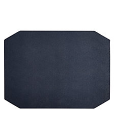 Hotel Collection Navy Faux Leather Placemat