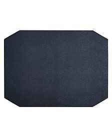 Hotel Collection Navy Faux Leather Placemat Created For Macy S
