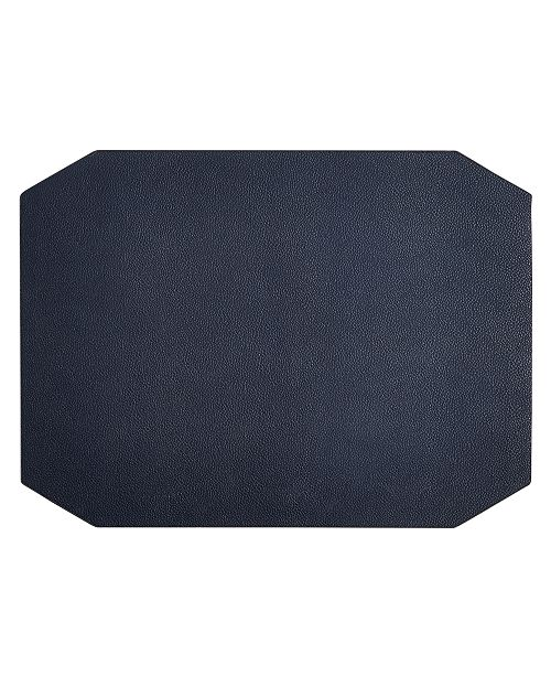 Hotel Collection Navy Faux Leather Placemat, Created for Macy's
