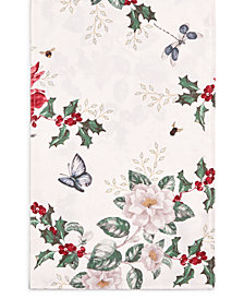"Lenox Butterfly Meadow Poinsettia 13"" x 70"" Runner"