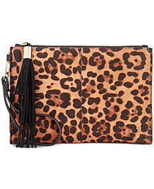 I.N.C. Molyy Leopard-Print Party Wristlet Clutch, Created for Macy's