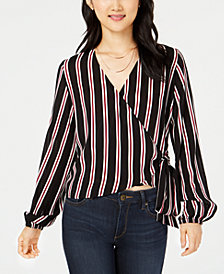 Project 28 NYC Striped Wrap Blouse