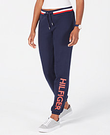 Tommy Hilfiger Sport Logo Elastic-Cuff Sweatpants, Created for Macy's