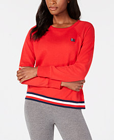 Tommy Hilfiger Sport Striped-Hem Sweatshirt, Created for Macy's