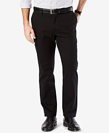 Mens' Signature Lux Cotton Straight Fit Stretch Khaki Pants
