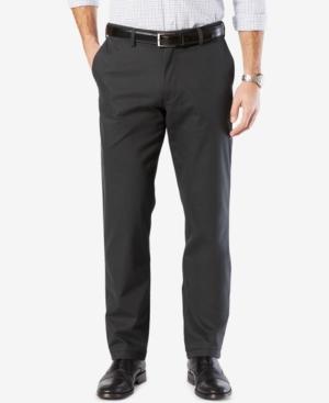 Mens' Signature Lux Cotton Straight Fit Stretch Khaki Pants