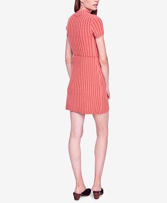 Free People Lottie Ribbed Mock Neck Mini Dress Dresses Women
