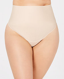 Maidenform Curvy Tame Your Tummy Plus Size Tailored Thong DM0053
