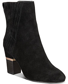 Lucca Lane Jadia Block-Heel Ankle Booties