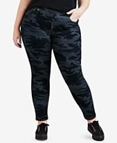 f9981c45313 Levi s® Plus Size Camo-Print Pull-On Skinny Jeans