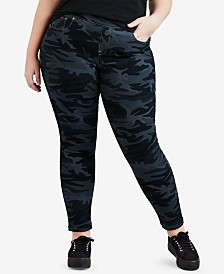 Levi's® Plus Size Camo-Print Pull-On Skinny Jeans