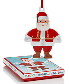 Macy's Santa shaped ornament celebrating Macy's Annual Thanksgiving Day Parade - Gift Box