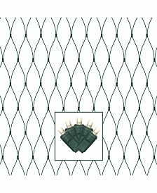 Vickerman 150 Warm White Wide Angle LED Net Light on Green Wire