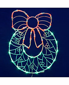 "17"" Wreath Wire Silhouette with 35 LED Lights"