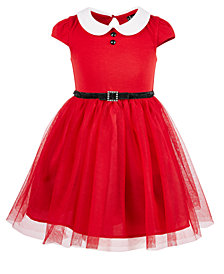 Pink & Violet Little Girls Santa Dress