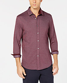 Tasso Elba Men's Herringbone Shirt, Created for Macy's