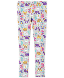 Carter's Little & Big Girls Butterfly-Print Leggings