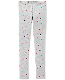 Carter's Little & Big Girls Heart-Print Leggings