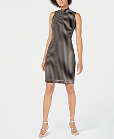 Bar III Mesh Bodycon Dress, Created for Macy's