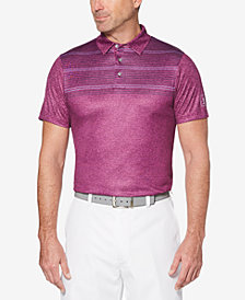 PGA TOUR Men's Big and Tall Space-Dyed Stripe Polo