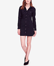 Free People Dynomite In Denim Long-Sleeve Mini Dress