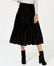 MICHAEL Michael Kors Crinkle Velvet Maxi Skirt