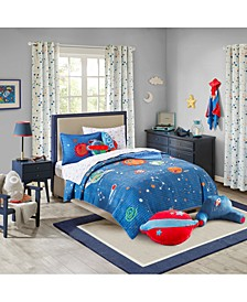 Stellar Space 100% Cotton Quilt Mini Set Full/Queen, Created for Macy's