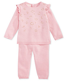 First Impressions Baby Girls Cotton Sweater & Pants Set, Created for Macy's