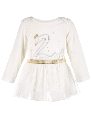 First Impressions Baby Girls SwanPrint Tutu Bodysuit Created for Macys