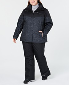 Columbia Plus Size Waterproof Interchange Jacket & Waterproof Pants