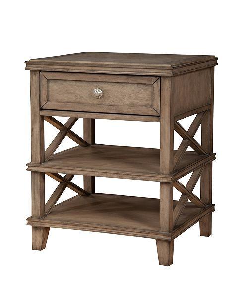 Alpine Furniture Potter Nightstand, Quick Ship
