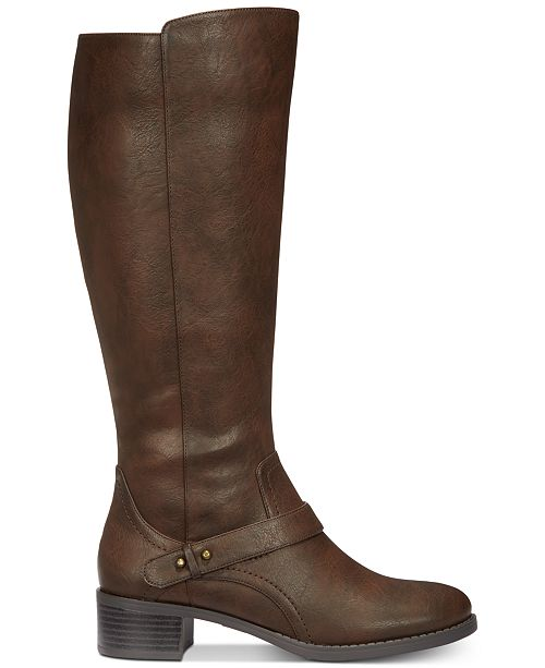 c6c36961902 Jewel Wide-Calf Riding Boots