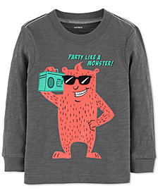 Carter's Toddler Boys Party Like A Monster Graphic Cotton Shirt