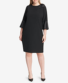 Jessica Howard Plus Size Bow-Detail Sheath Dress