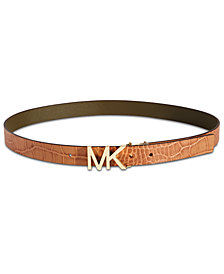 MICHAEL Michael Kors Croc-Embossed Reversible Belt